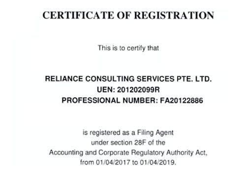 ACRA Certificate of Registration