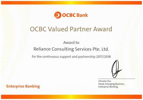 OCBC Valued Partner Award
